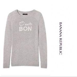 "Banana Republic ""C'est Bon"" Sweater"